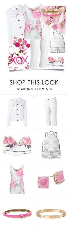 """White Floral Sneakers"" by easy-dressing ❤ liked on Polyvore featuring Etienne Deroeux, Croft & Barrow, Converse, MICHAEL Michael Kors, GALA, Clinique, Kate Spade, Alexis Bittar and Cartier"