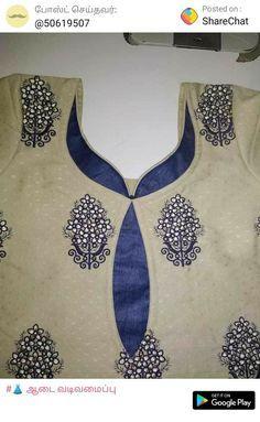 Best 12 Punjabi – Page 671106781950489502 – SkillOfKing.Com Chudithar Neck Designs, Neck Designs For Suits, Blouse Back Neck Designs, Neckline Designs, Designs For Dresses, Sleeve Designs, Kurtha Designs, Blouse Designs, Salwar Neck Designs