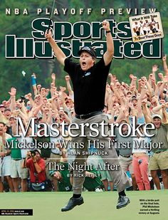 Sports Illustrated - Phil Mickelson wins his first Masters April 19, 2004