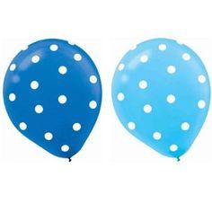 Blue polka dot balloons