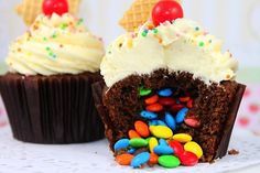 Surprise Pinata Cupcakes