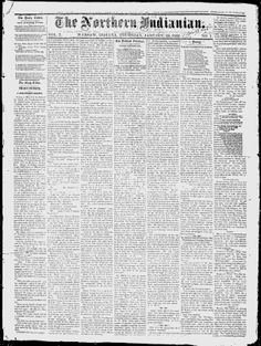 KOSCIUSKO COUNTY, Indiana - Warsaw - 1856-58. 1862-65. 1867-69. 1879-1884. 1895-1902. 1905-1919. - The Northern Indianian - Google News Archive Search