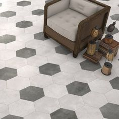 Carrelage Hexagonal Sol Et Mur X Cement Durstone Water - Carrelage hexagonal sol