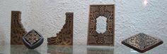 Squarish metal ornament by Abdallah Zakher
