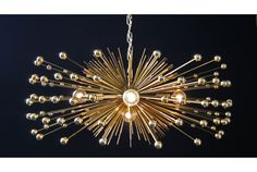 5Bulb Gold Beaded Urchin Chandelier by Stimulight on Etsy, $529.00