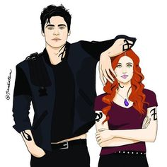 Clalec Fanart #Shadowhunters #TMI ~ The Mortal Instruments Clary Fray & Alec Lightwood • Katherine Mcnamara Matthew Daddario