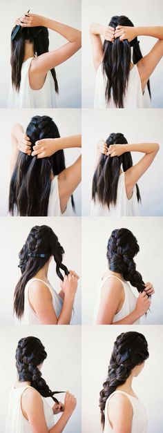 Medieval braided hair! I'd feel like such a princess...