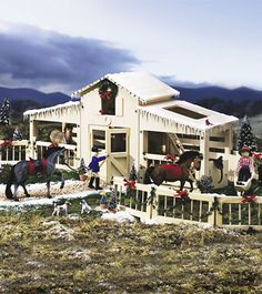 I have this barn! I love it for my Breyer horses!
