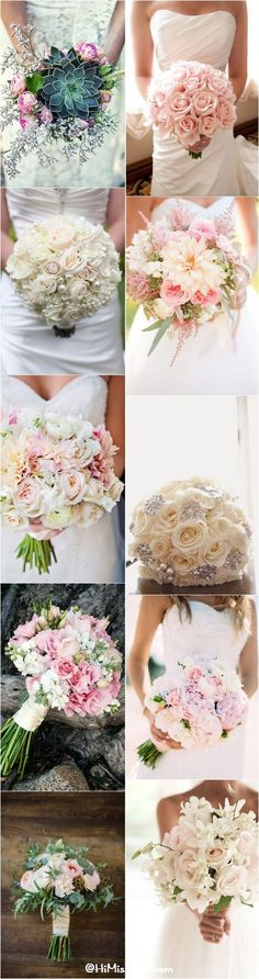 Romantic Spring & Summer Wedding Bouquets / http://www.himisspuff.com/spring-summer-wedding-bouquets/