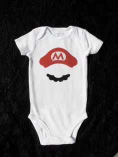 Mario Onsie (we're gonna have a whole bunch of nerdy onsies if we have a boy haha)