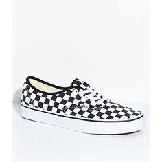 8718f46fc0 Vans Authentic Vans Golden Coast Black White Checker Skate Shoe ...