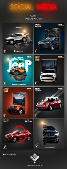 car design social media car agency on Behance Social Media Branding, Social Media Poster, Social Media Art, Social Media Banner, Social Media Design, Social Media Template, Social Media Graphics, Social Media Marketing Agency, Jazz Poster