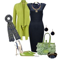"""Navy and Lime"" by christa72 on Polyvore"