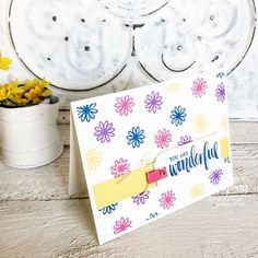These supplies are perfect for making simple handmade cards for friends. And don't we all need to send more cards! Make Your Own Background, Creative Background, Handmade Cards For Friends, Greeting Cards Handmade, Thank U Cards, Flower Images, Ink Pads, Free Paper, Stamping