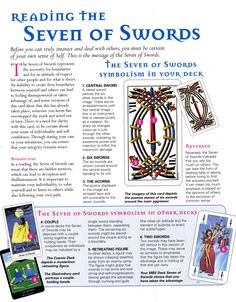 Reading the seven of swords