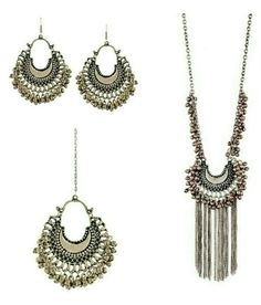 355b42e2c A M INTERNATIONAL Silver Oxidised High Class Luxury Hot Selling Afghan  Tribal Afghani Jewellery Set