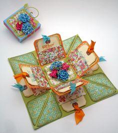 Diy Geschenk Basteln – Scor-pal: Explosion Box by Lori Williams - Beste Geschenk Mini Albums, Explosion Box Tutorial, Exploding Box Card, Up Book, Fancy Fold Cards, Diy Gifts For Boyfriend, Craft Box, Mason Jar Crafts, Mason Jars