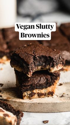 Vegan Chocolate Brownies, Gluten Free Chocolate, Chocolate Flavors, Chocolate Desserts, Vegan Desserts, Chocolate Chip Cookies, Vegan Recipes, Dessert Recipes, Fudgy Brownies