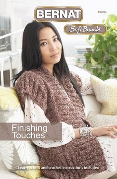 Spinrite Bernat Knitting and Crochet Patterns Finishing TouchesSoft Boucle * Click image to review more details.
