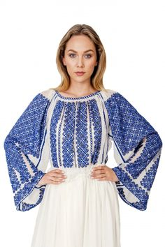 Romanian Blouse is very popular world wide. It can be the attraction of your outfit for an engagement ceremony or a wedding.  *by Romanian Designer Izabela Mandoiu  #laBlouseRoumaine