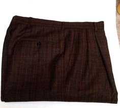 Hart Schaffner Marx- Brown Glen Plaid, Pleated Fashion Trousers- size 33