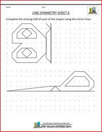 symmetry worksheets line symmetry 6