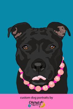 Custom Dog Portraits by Cherbear Creative Studio Bandana Bow, Sarah Walker, Custom Dog Portraits, Etsy Business, Creative Studio, Dog Training, Dog Breeds, About Me Blog, Advice