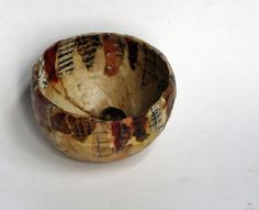Lovely Art Bowl ~ Art of Kim Henkle ~ love how she uses tea bag papers! :)