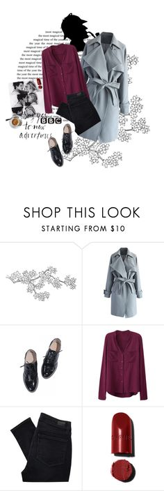 """""""Noora+Sherlock"""" by maryskaam ❤ liked on Polyvore featuring Chicwish and Paige Denim"""