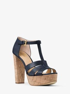 deb2ed7a37230f MICHAEL MICHAEL KORS Mercer Cork Platform Leather Sandal.   michaelmichaelkors  shoes  sandals Women s