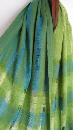 Handwoven Wool Shawl by tisserande