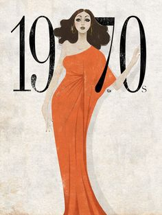 Vogue magazine shows the glamour of the This poster by Eko Bintang shows the style of art in the with its abstract feel and colors as well as how higher class women chose to dress. 70s Fashion, Fashion History, Trendy Fashion, Fashion Art, Fashion Show, Vintage Fashion, Fashion Design, Vogue Fashion, Studio 54 Fashion