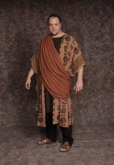 $20.00 Nativity Man #7 black pants, dk. brown shirt, brown patterned long vest, rust sash