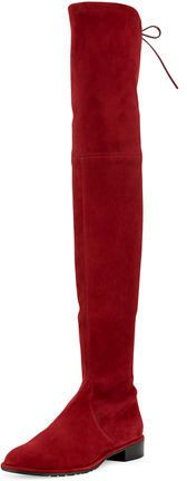 """Stuart Weitzman Lowland Suede Over-The-Knee Boot  $798 by Stuart Weitzman at Neiman Marcus  COPY LINK   FAVORITE        Available Colors: SKIN ,CACTUS ,TOPO ,SCARLET ,BLACK ,BALTIC ,SLATE Available Sizes: 11B/41EU ,5.5B/35.5EU ,7.5B/37.5EU ,12B/42EU ,4.0C ,7B/37EU ,5B/35EU ,11.5B/41.5EU ,9.5B/39.5EU ,4.5B ,10.5B/40.5EU ,10B/40EU ,8.5B/38.5EU ,8B/38EU ,9B/39EU ,6.5B/36.5EU ,6B/36EU DETAILS Stuart Weitzman suede over-the-knee boot. 24""""H stretch shaft with leather tie; 15"""" circumference. 1.25""""…"""