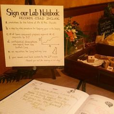 You know you're at a wedding between two scientists when their guest book is a…