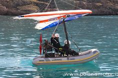 Gommone Volante - inflatable boat - polaris motor - powered hang glider - a motore - flexwing - trike - made in - polaris motor Bush Plane, Fly Plane, Microlight Aircraft, Ultralight Plane, Personal Helicopter, Amphibious Aircraft, Flying Drones, Inflatable Boat, Flying Boat
