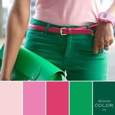 28 trendy ideas for how to wear green jeans clothes Fashion Colours, Colorful Fashion, Color Wheel Fashion, Mode Inspiration, Color Inspiration, Color Trends, Color Combos, Color Concept, Color Balance