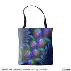 Colorful and Luminous, abstract Fractal Art Tote Bag