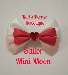 Anime Inspired Bow  Sailor Mini Moon by KarisKornerBowtique