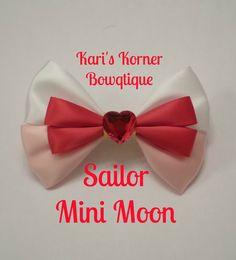 Anime Inspired Bow  Sailor Mini Moon by KarisKornerBowtique