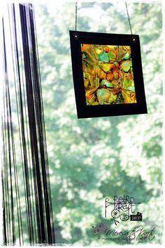 Retro Kraft Shop: Retro Tutki: Witraż z tuszami alkoholowymi / Retro Tutorials: Stained glass effect with alcohol inks
