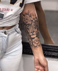 Forarm Tattoos, Girl Arm Tattoos, Leo Tattoos, Girls With Sleeve Tattoos, Dope Tattoos, Hand Tattoos, Tattoo Ink, Tatoos, Best Arm Tattoos