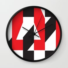 Buy A-Z Wall Clock by werls. Worldwide shipping available at Society6.com. Just one of millions of high quality products available.
