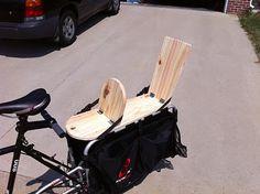 family//bike//words: Xtracycle Kid Seats - Finished! Baby Bike, Go Ride, Folding Bicycle, Four Kids, Cargo Bike, Kids Seating, Bike Seat, Kids Bike, Bicycle Accessories