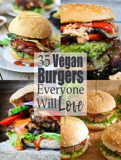 If you're looking for delicious veggie burgers, this roundup of 35 vegan burgers is the right place for you! Vegan fast food at its best!