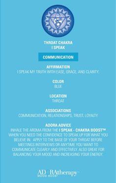 Throat Chakra 101 courtesy of ADORAtherapy™ Chakra Meditation, Guided Meditation, Chakra Healing, Kundalini Yoga, 7 Chakras, Mind Body Spirit, Mind Body Soul, Ayurveda, Vishuddha Chakra