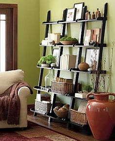 Ladder Shelf Decorating Ideas Decoracion Pinterest Shelves