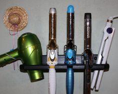 Bathroom Organizer Hair Blow Dryer Straightener Curling Flat Iron Holder Bath Salon Storage 5 HOLE SHELF  BDCCCF-E