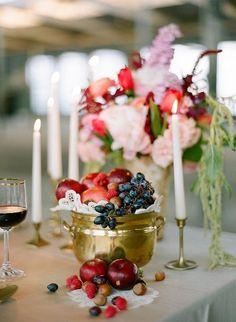 Fruit Centerpieces - 31 Unique Wedding Centerpieces Inspirations - EverAfterGuide