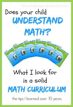 Check out what we look for in a math curriculum. Huge giveaway too!